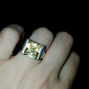 Jewelry - Sterling Silver Modern Citrine Ring